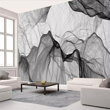 Simple and stylish line background wall professional production mural custom photo wallpaper
