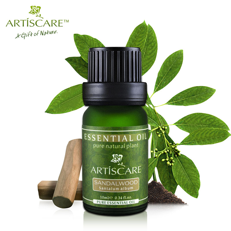 ARTISCARE 100% Natural Sandalwood Pure Essential Oil 10ml Face Moisturizer Dry Skin Anti Aging Anti Wrinkle Skin Care Meditation neroli lavender rosehip oil 10ml for anti wrinkle
