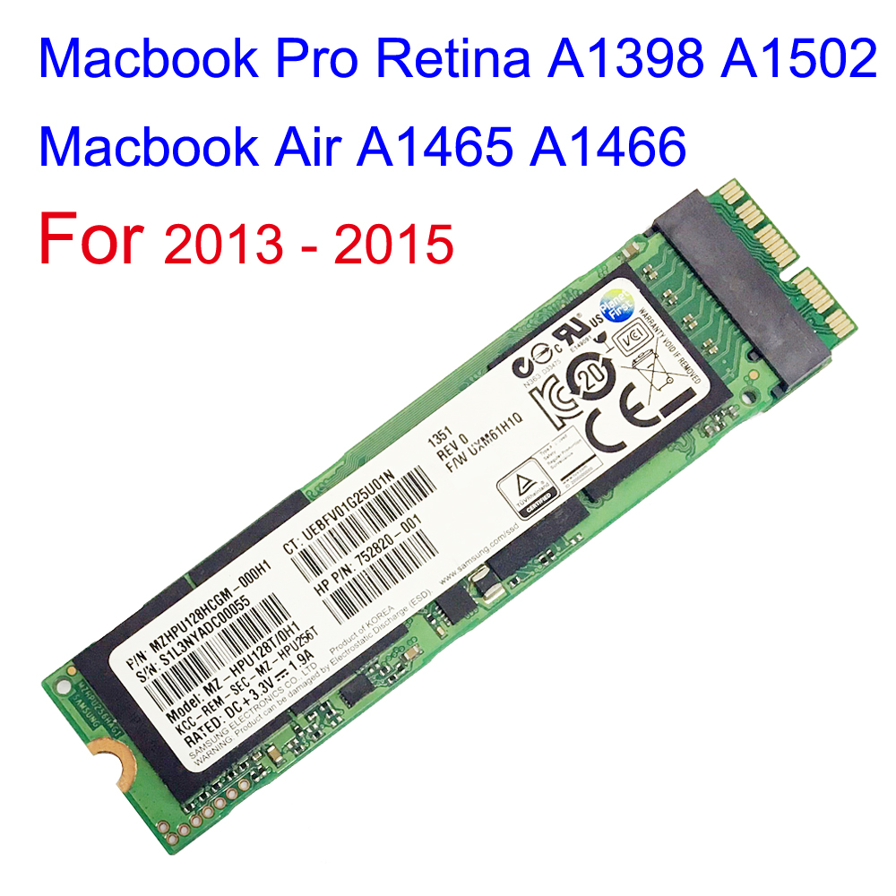 128GB 256GB 512GB disque SSD pour 2013 2014 2015 Macbook Air A1465 A1466 Macbook Pro Retina A1398 A1502 lecteur à semi-conducteurs