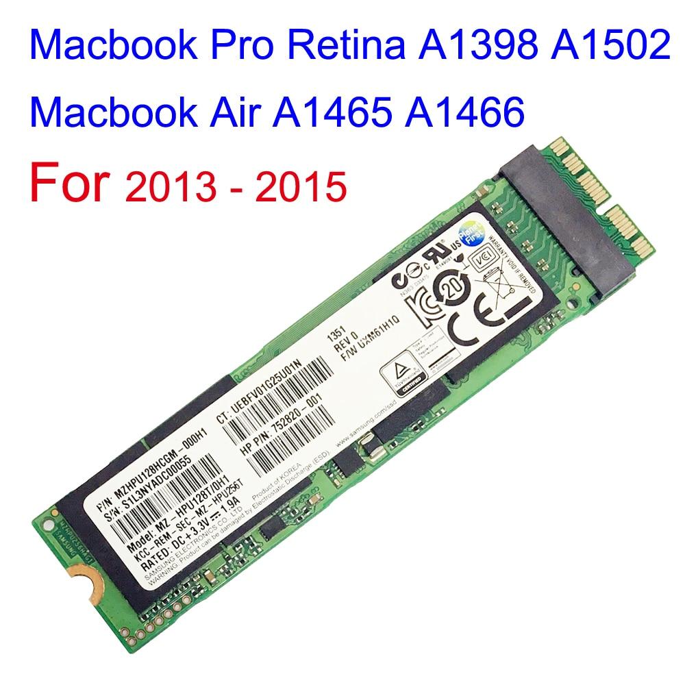128GB 256GB 512GB Drive SSD Para Macbook Pro Retina 2013 2014 2015 Macbook Air A1465 A1466 A1398 A1502 Drive de Estado Sólido