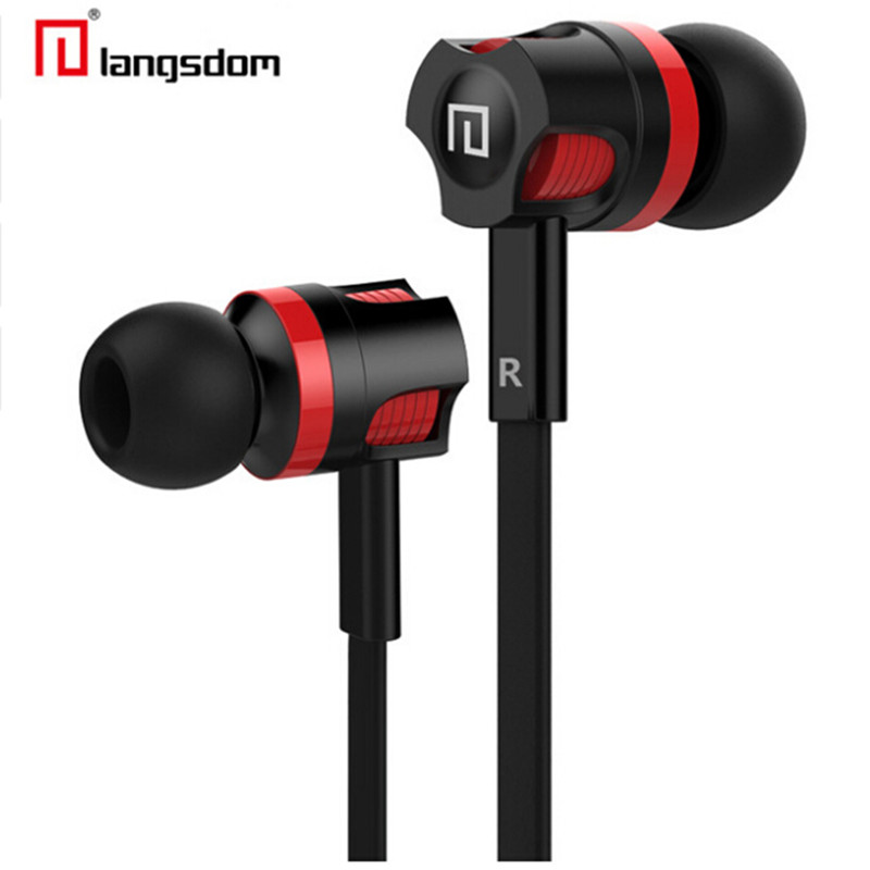 Original Langsdom JM26 Stereo Earphones Super Bass Earphone with microphone Gaming for Xiaomi Mobile Phone iPhone 6 7 Samsung S6 original langsdom sp80a stereo earphones with microphone super bass 3 5mm in ear earphone for iphone xiaomi mobile phone mp3 mp4