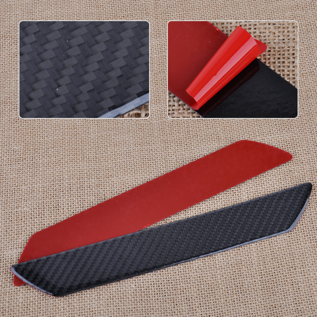 CITALL 2PCS Car-styling Carbon Fiber Door Step Scuff Plate Sill Plate Cover Panel Guard Protect Trim for Ford Mazda VW Audi BMW