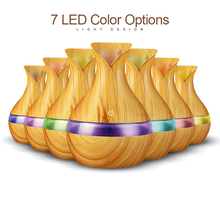 Night lamp with 300ml USB electric Diffuser Wood Grain LED night lights table desk color for home baby gift bedroom