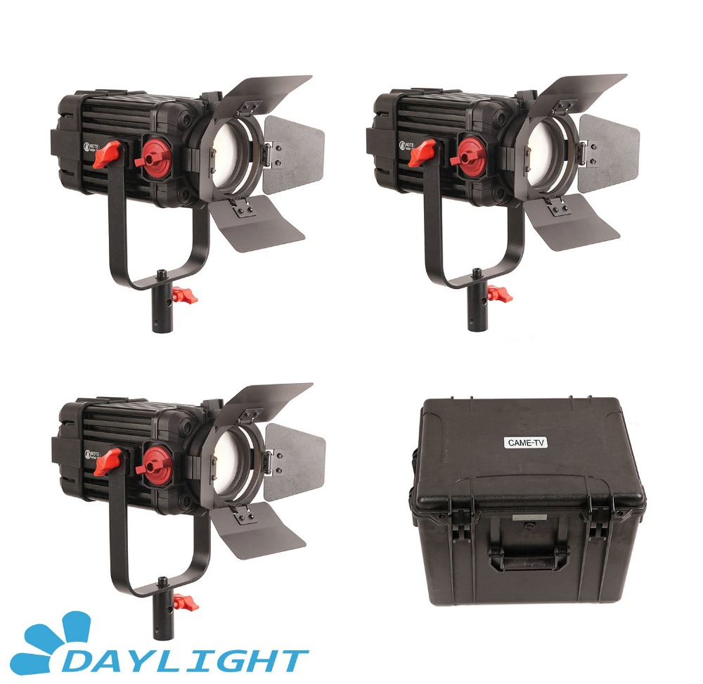 3 Pcs CAME TV Boltzen 100w Fresnel Focusable LED Daylight Kit-in Photo Studio Accessories from Consumer Electronics