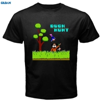 GILDAN New DUCK HUNT Retro Classic Video Game Men S Black T Shirt Size Brand Cotton