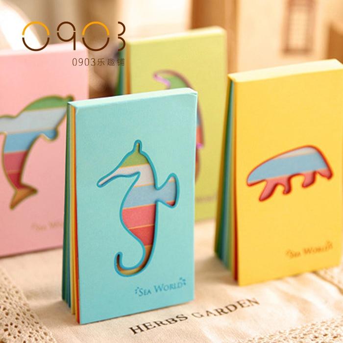Free shipping Trend notepad querysystem cutout mini portable small fresh sea world cute memo pad часы mini world mn1012a