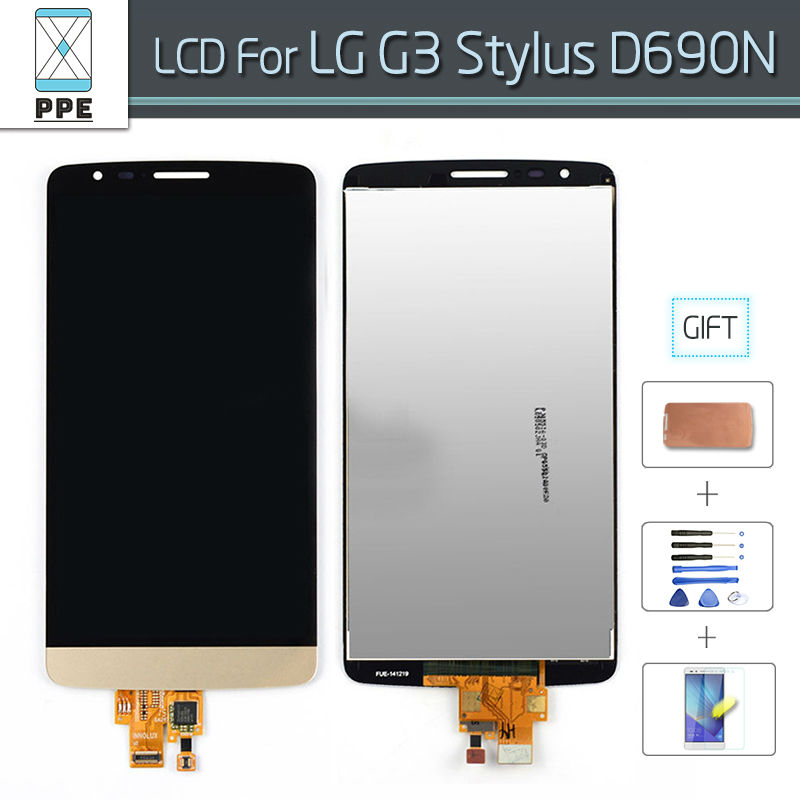 ФОТО Original LCD For LG G3 Stylus D690 LCD Display with Touch screen Digitizer Glass Panel Assembly Black White Gold Free shipping