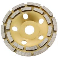 5 Inch Double Row Diamond Grinding Cup Wheel Arbor 7 8 3 4 For Concrete Brick