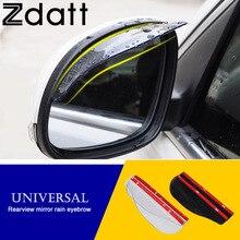 Car-styling 2 Pcs Black Universal Car Flexible Plastic Rear Mirror Rain Board Eyebrow  For Car Truck Automobiles