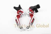 CNC Foldable Extendable Brake Clutch Levers For Honda VF750S SABRE 1982 1986 Red Silver Black 83