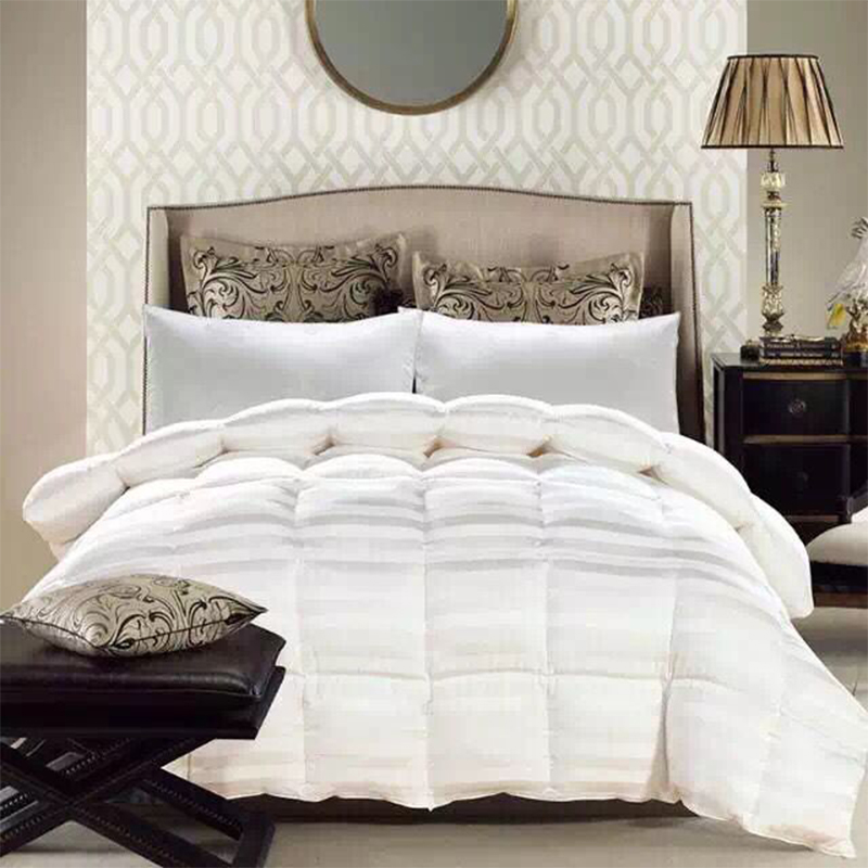 beiyayan queen king size top quality silk comforter white color duck goose down quilt - King Size Down Comforter