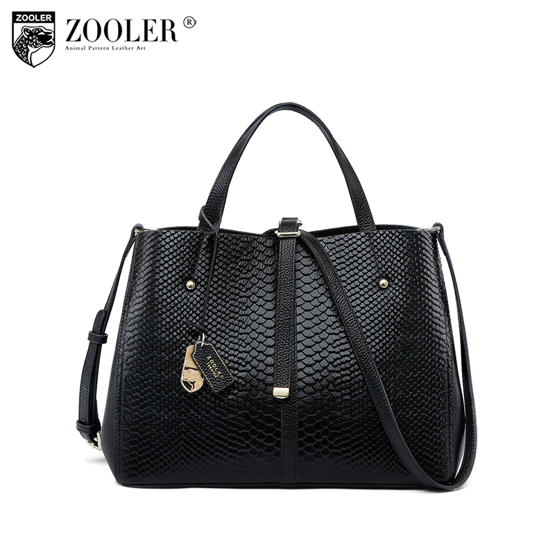 ZOOLER Ladies design handbag bag Genuine leather bag women shoulder crossbody bags luxury handbags women bags designer B200 ladies genuine leather handbag 2018 luxury handbags women bags designer new leather handbags smile bag shoulder bag