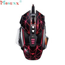 Mosunx Advanced 2017 high quality comfortable mini 4000 DPI 8D Buttons LED Mechanical Wired Gaming Mouse For PC Laptop 1PC