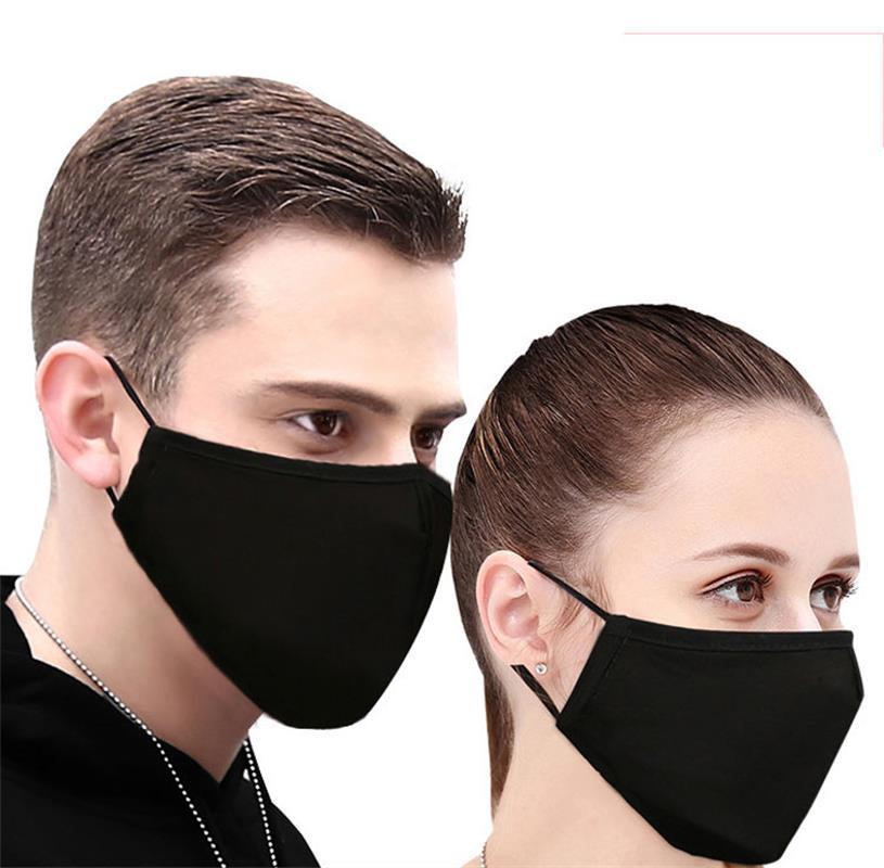 1 Piezas De Algodón Pm2.5 Negro Máscara De Boca Anti Polvo De Máscara De Filtro De Carbono Activado A Prueba De Viento Boca Mufla Bacterias Prueba Gripe Máscaras