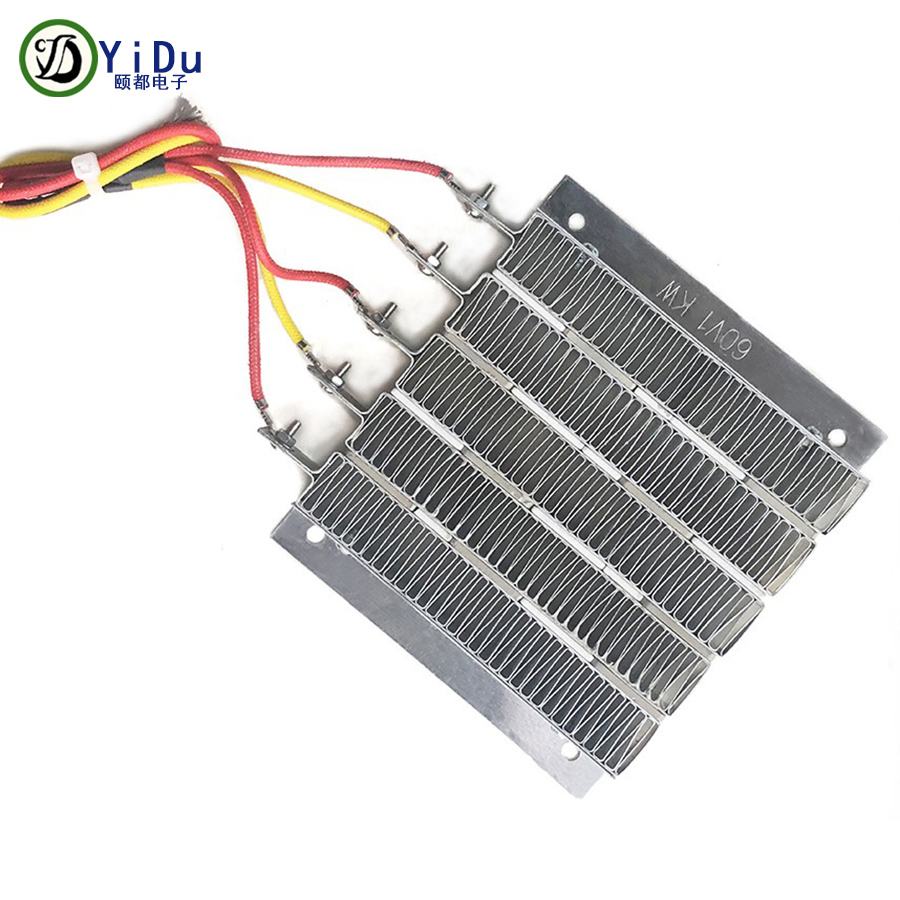 60V 1000W PTC Ceramic Air Heater Conductive Type Constant Temperature Ceramic Aluminum