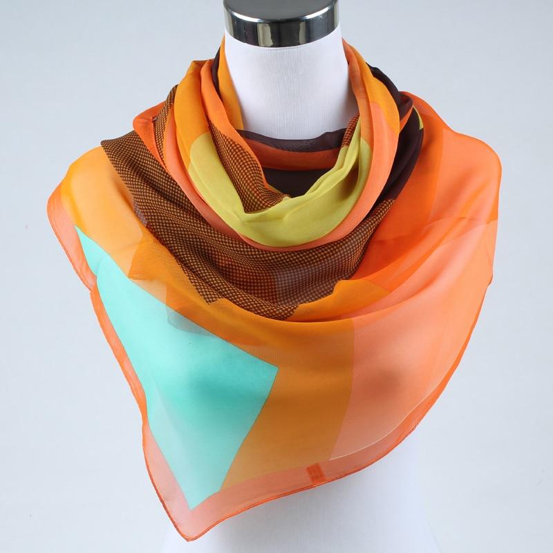 Nueva primavera 2019 moda mujer seda bufanda chiffon chales - Accesorios para la ropa - foto 4