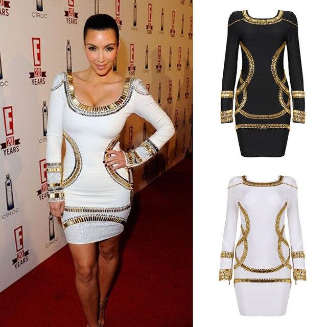 Zwart met gouden jurk