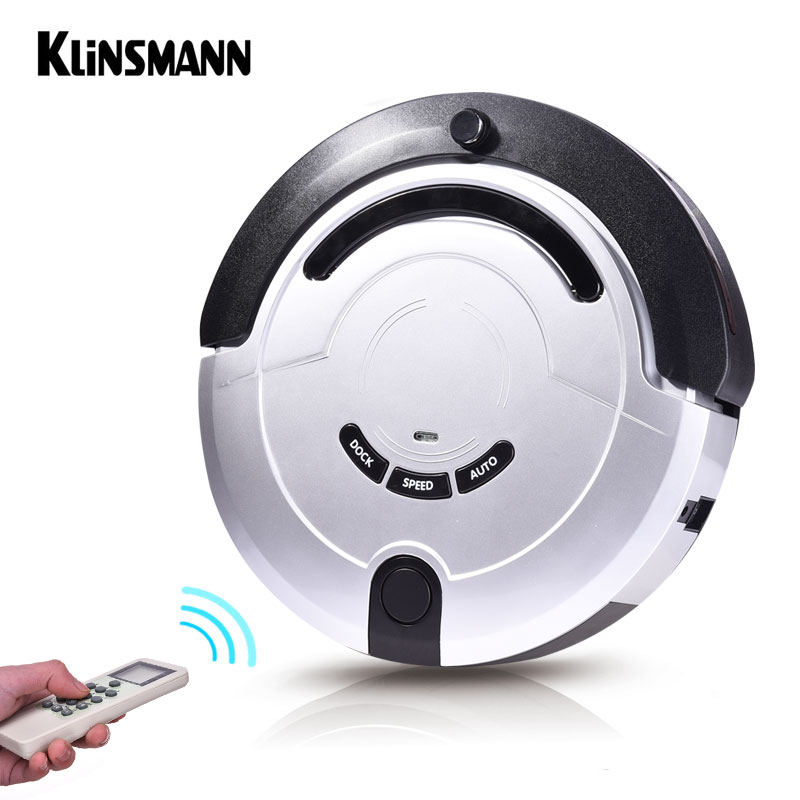 Klinsmann Intelligent Robot Vacuum Cleaner Slim HEPA Filter Cliff Sensor Remote Control Self Charge KRV209 ROBOT ASPIRADOR robot vacuum cleaner for home hepa filter sensor automatic vacuum cleaner household intelligent robotic vacuum cleaner krv205
