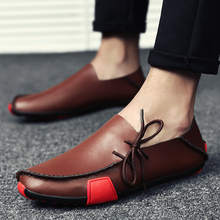US $17.47 75% OFF|2019 New Leather Mens Loafers Fashion Shoes Handmade Moccasins Soft Leather Slip on Men's Boat Shoe PLUS SIZE 38~47-in Men's Casual Shoes from Shoes on AliExpress