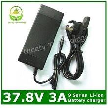Cargador 37.8V3A 37,8 V 3A cargador de batería de litio para paquete de batería de litio 9S