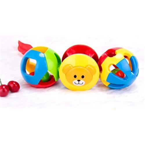 2016 Rabbed Baby Toy 3pcs Lovely Colorful Bell Ball Білімі - Балаларға арналған ойыншықтар - фото 3