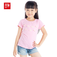 Kids Girls T Shirts Sweet Clothes Flower Decoration Shirts Size 6 15 Years