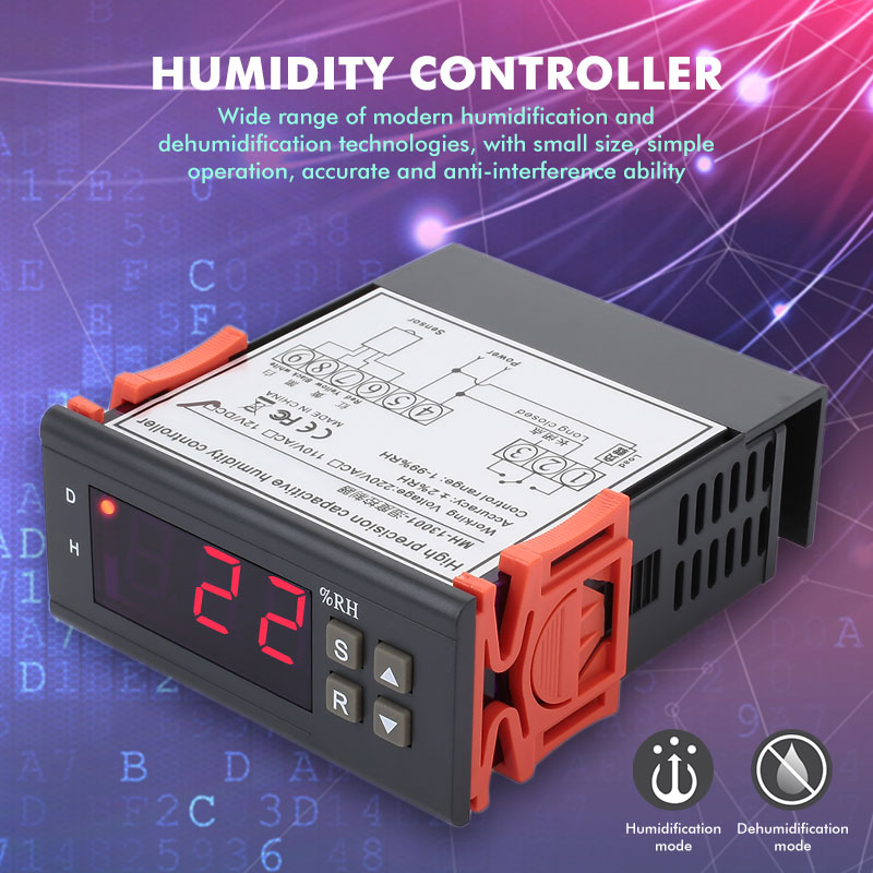 10A Automation Hygrometer Controller Digital Temperature Controller Intelligent Humidity Controller Humidity Correction Воск