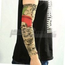Nylon Elastic Fake Temporary Tattoo Sleeve Designs Body Arm Stockings Tatoo For Cool Men Women