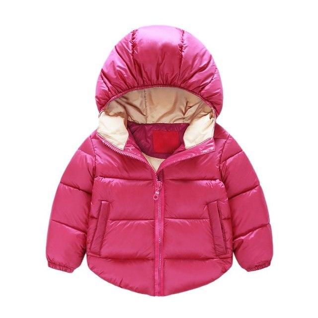 Unisex Baby Girls Boys Hooded Winter Coat Infant Outwear Jacket Kids Snow Wear Warm Clothes