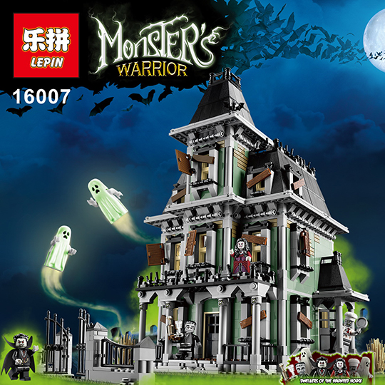New LEPIN 16007 2141Pcs Monster fighter The haunted house Model set Building Kits Model Compatible With 10228 for kids gift toys lepin 16007 2141pcs monster fighter the haunted house model building blocks bricks diy toys for children gifts compatible 10228