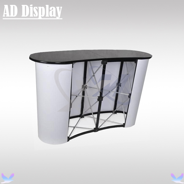Portable Exhibition Table : High quality curve shape portable promotion exhibition
