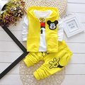 3PCS Mickey Minnie Baby clothing Set boys and girls sport Suit Kid vest+T-Shirt+Pants Baby Summer Autumn Sets 0-3Y Boys clothes