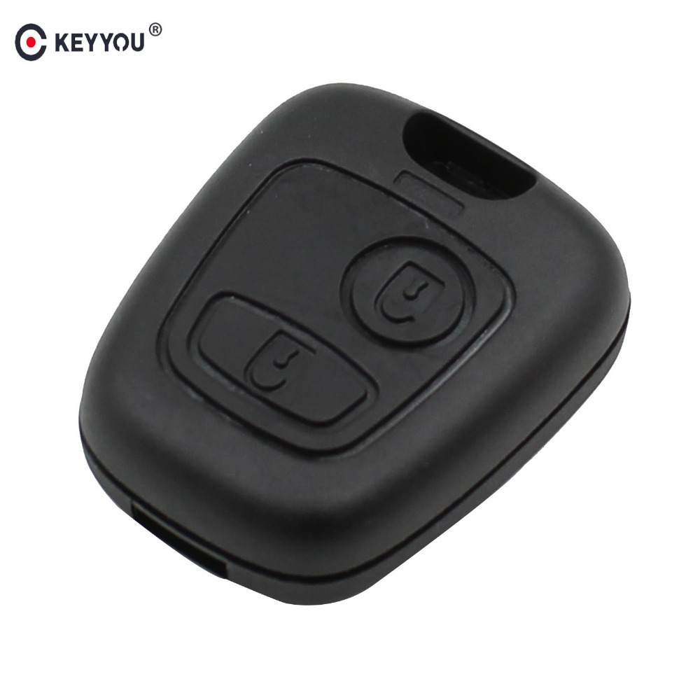 KEYYOU 2 Button Remote Key Case Shell For Peugeot 107 207 307 407 406 806 For Citroen C1 C2 C3 C4 C5 Picasso Berlingo Saxo Xsara genuine leather key cover for citroen c2 c3 c4 c5 c6 xsara quatre picasso peugeot 206 307 308 407 408 rcz key chain case keybag