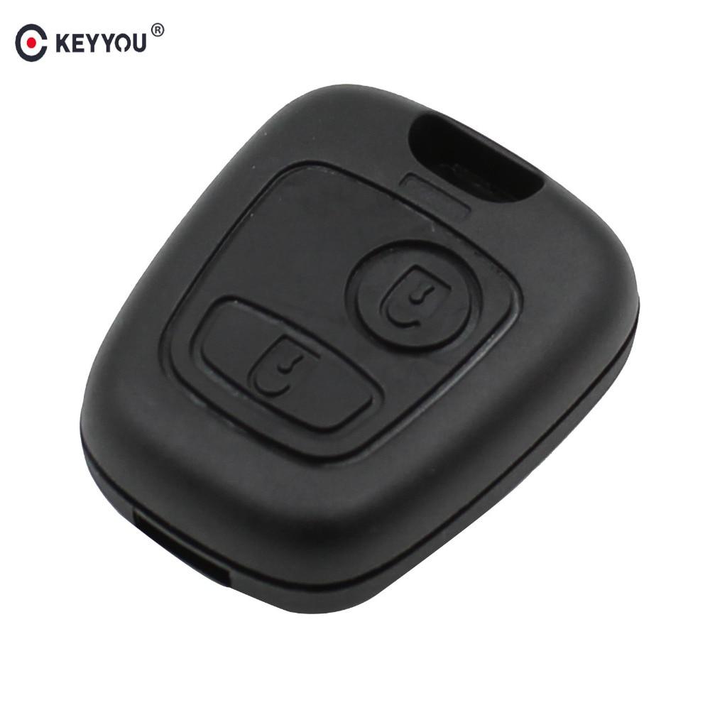KEYYOU 2 Button Remote Key Case Shell For Peugeot 107 207 307 407 406 806 For Citroen C1 C2 C3 C4 C5 Picasso Berlingo Saxo Xsara