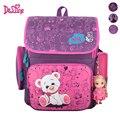 Школьный детский рюкзак с изображением медведя из мультфильма водонепроницаемый школьный ортопедический рюкзак для девочек школьные рюкзаки Mochila Escolar