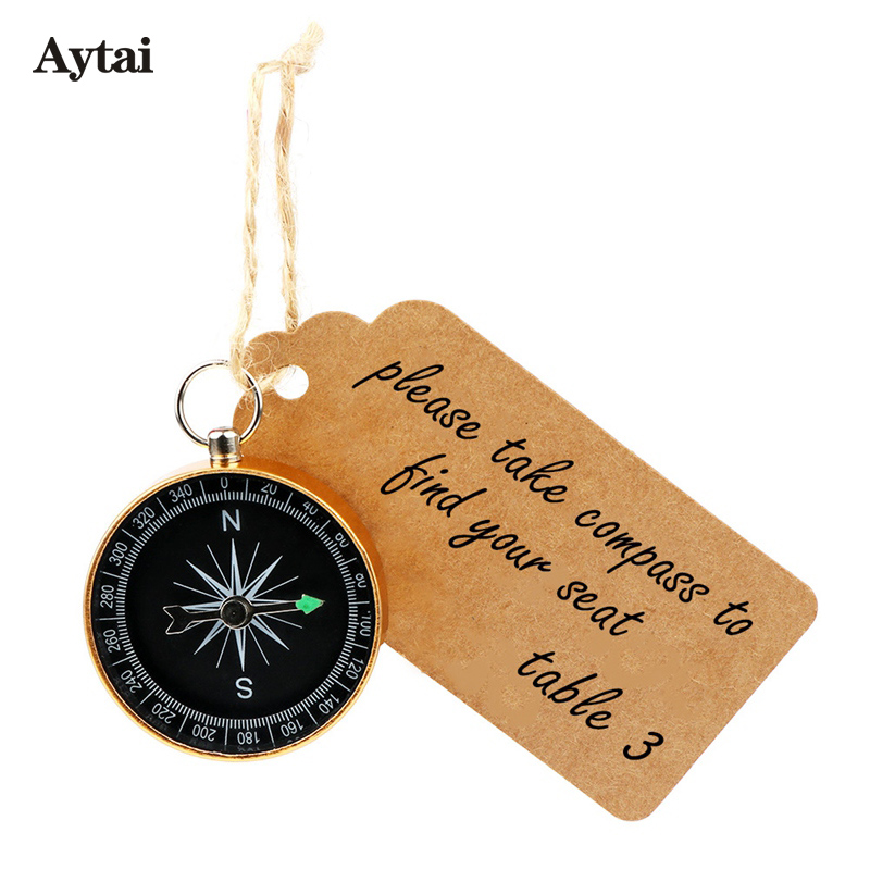 Ayati 20 set Compass+Tags Party Favors for Kids Birthday Travel Themed Wedding Gifts for Guests Compass Gift +Kraft Paper Tags