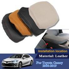 Кожа автомобиля подлокотник Pad обложки центральной консоли сиденья авто Подлокотники коробка колодки для Toyota Camry 2018 2019 внутренние аксессуары