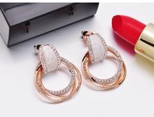 Fashion Accessories Brief  Pendant Earrings Female Personality Joker Contracted Earrings Eardrop Hipsters Jewelry women gift