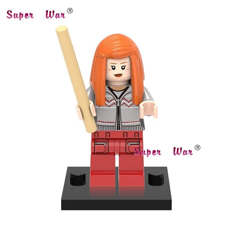 1PCS star wars superhero marvel avengers Harry Potter Ginny building blocks action model bricks toys for children