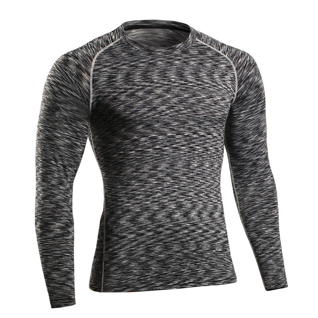 2016 autumn winter Men long sleeve T-SHIRT thermal underwear Breathable quick dry clothes skinny thigh undershirts High-Elastic