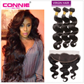 Malaysian Virgin Hair Body Wave With Closure 13x4 Ear To Ear Full Lace Frontal With Bundles 7A Malaysian Body Wave With Closure