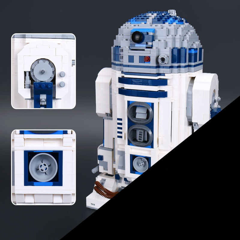 Lepin 05043 2127PCS Genuine Star wars Series The R2 model D2 Robot Set Out of print Educational Building Block Bricks Toys 10225 new 2127pcs lepin 05043 star war series r2 d2 the robot building blocks bricks model toys 10225 boys gifts