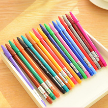 3 set/Lot 24 color Gel ink drawing pen Stationery Office accessories school supplies FB261 24 36 60 100 pieces cute colored needle gel pen 0 4mm color ink line drawing pens stationery accessories school supplies zxb92