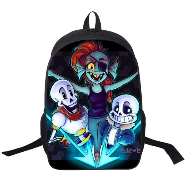 undertale backpack sans and papyrus school backpacks boys