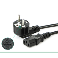 Wholesale EU Plug 1 5M Black 3 Prong AC Power Supply Cable Adapter Cord AC Power