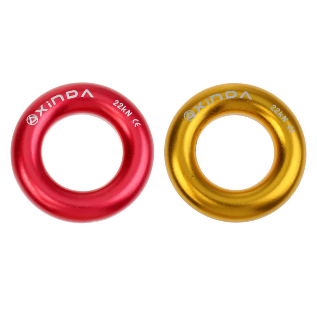 2pcs Rappel Ring 22kN for Rock Climbing Arborist Rescue Hammock Pack Climbing Hiking альпинизм Belay and Rappel Equipment Gear