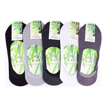 Men Slippers Sock Bamboo Fibre Cotton Non-slip Deodorant Casual Breathable Invisible Boat Male Ankle Socks 10pcs=5pairs/lot M311