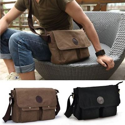350c17cb567f Men s Vintage Casual Canvas Shoulder Bags Messenger Man Satchel Boy School  Book Bag Rucksack
