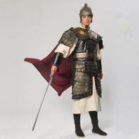 ancient chinese armor costume for men warrior armor costume vintage armor soldier costume