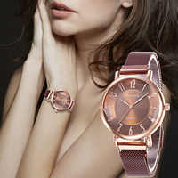 WJ-8569 2019 Hot Sale Women's Watches Luxury Magnetic Wristwatch Geometric Surface Female Diamond Quartz Watches reloj mujer